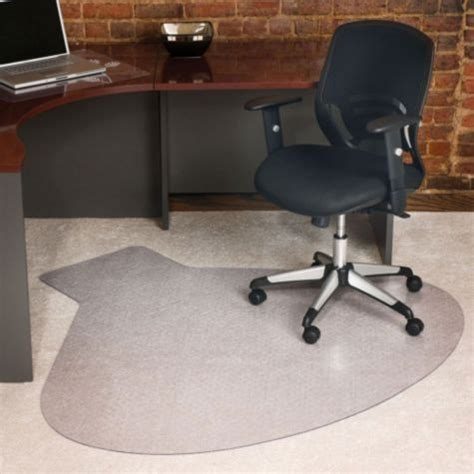Workstation Shaped Chair Mat 66 X 60 Officefurniture Com Chair Mat For Corner Desk
