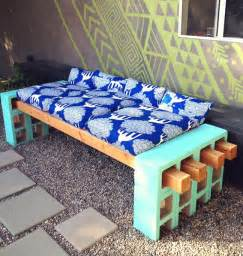 how to make a stylish outdoor bench from cinder block