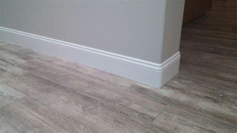 new baseboards over tile flooring modern san diego