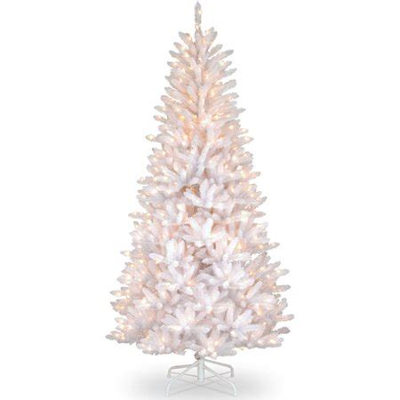 white 7 ft pre lit christmas tree clearance national tree pre lit 7 1 2 dunhill slim iridescent fir hinged artificial tree with