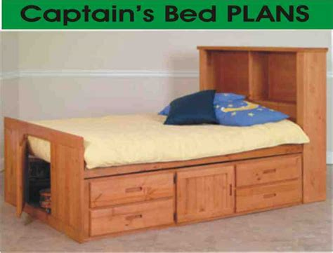 bed format captain s bed w headboard bookcase plans single bed