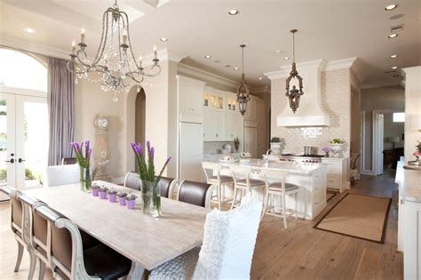 pretty kitchen and dining room with an open floor plan kitchen photos hgtv