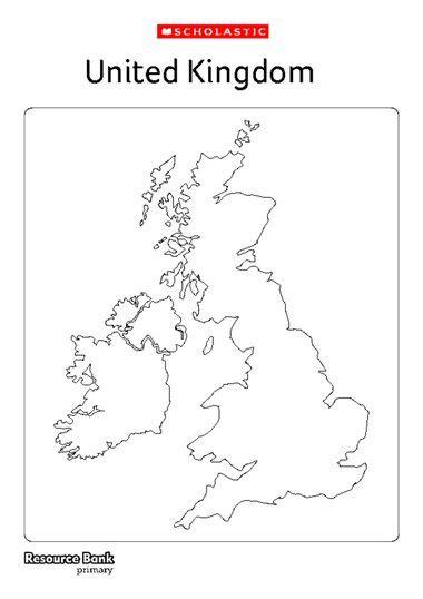 map uk ks1 blank united kingdom map primary ks1 ks2 teaching