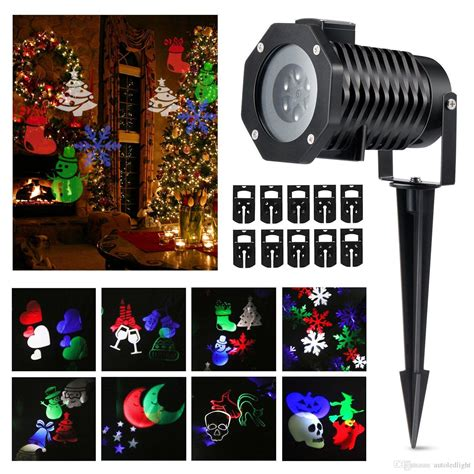 3d santa christmas light projection show christmas lights spotlights led landscape projector