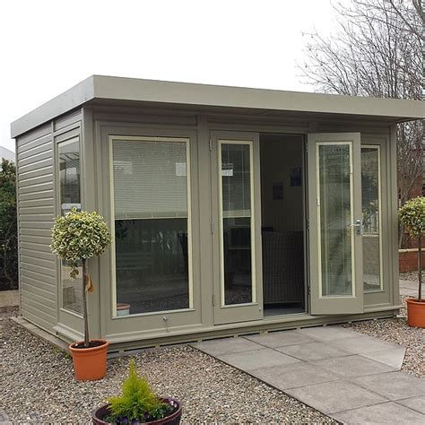Flat Roof Garden Sheds by The Malvern Hanley Flat