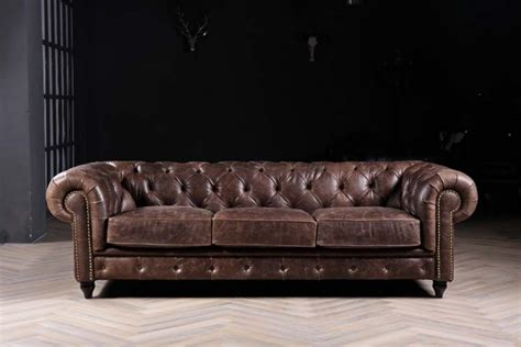 antique style classic furniture genuine leather living american style classic living room vintage leather 3 seat