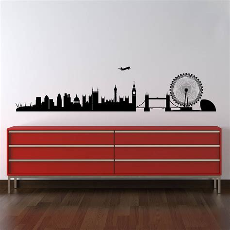 skyline wall stickers skyline wall stickers by parkins interiors
