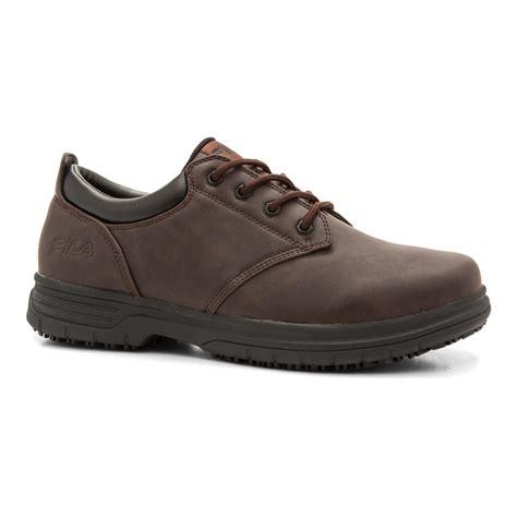 oxford work shoe fila s memory brown oxford work shoe
