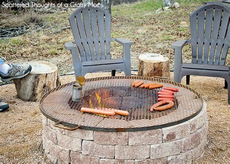 easy diy pit with grill simple diy outdoor pit outdoorbeing