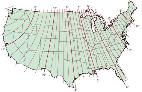 declination diagram on a map pin magnetic declination map of america on