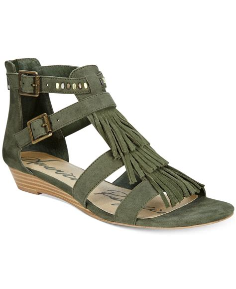 macy s gladiator sandals american rag demi wedge fringe gladiator sandals