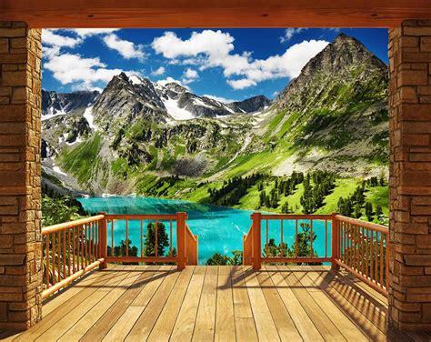 kinderzimmer berge tapete fototapete berge alpen panorama tapetenwelt