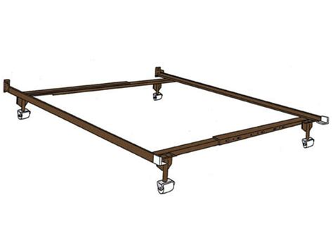 universal adjustable metal bed frame with wheels