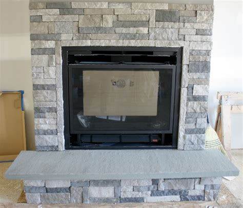 DIY Stone Fireplace with AirStone ? Binkies and Briefcases