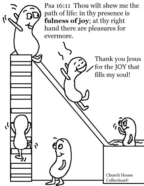 bible coloring pages joy jelly beans swimming psalms 16 11 coloring page