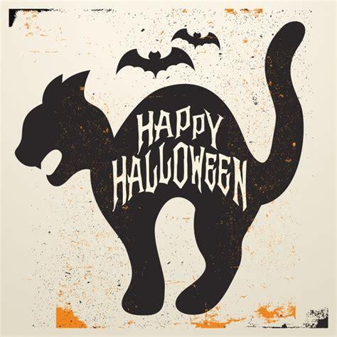 imagenes en negro de halloween gato negro de halloween descargar vectores gratis