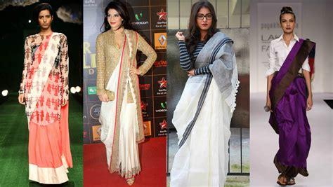 best way to drape saree how to restyle a saree in different ways indo western