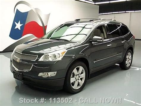 how cars engines work 2009 chevrolet traverse navigation system find used 2009 chevy traverse ltz dual sunroof nav dvd 20 s 60k texas direct auto in stafford