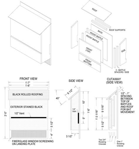 Bat Conservation International Bat House Plans Woodworking Industry Trends Simple Bat House Plans