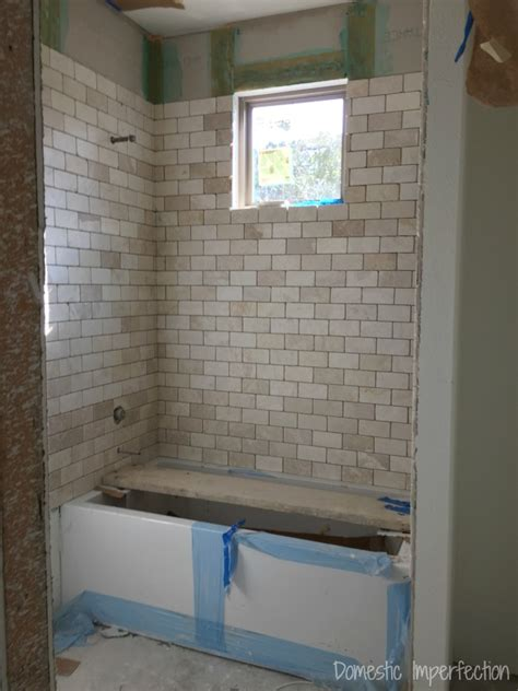Shower Tile Installation Grout Mistakes And Installed Bathroom Tile Domestic Imperfection