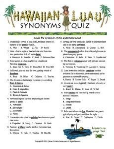 themed event synonym hawaiian luau synonyms quiz when is a vocabulary quiz