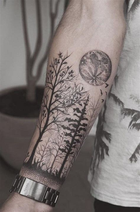 tattoos for men forarm 110 awesome forearm tattoos forest forearm