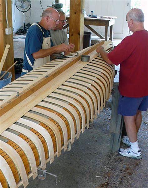 woodwork wood canoe  plans