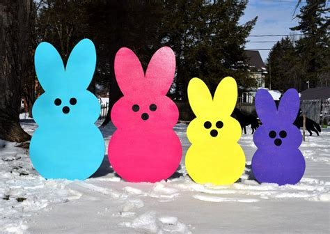 easter peeps yard outdoor easter decoration
