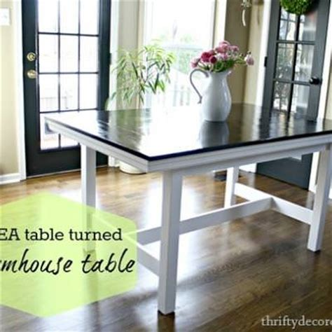 ikea table turned farmhouse table tables tip junkie