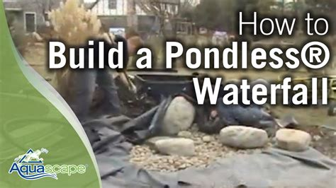 serenity pool waterfall installation youtube how to build a pondless 174 waterfall youtube