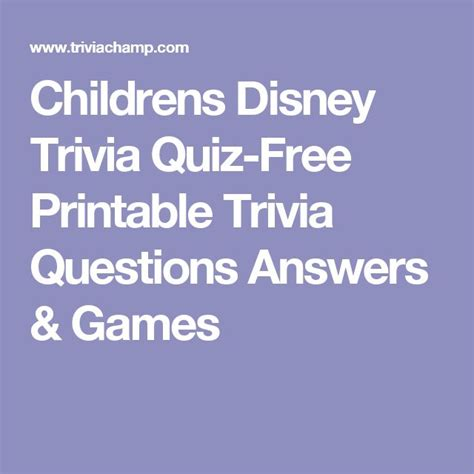 disney themes quiz multiple choice trivia questions and answers for kids