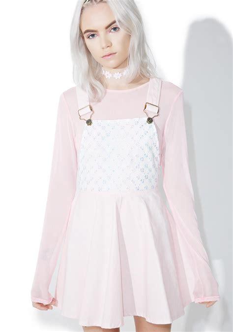 Dress Overall Overall kawaii pastel overall dress dolls kill