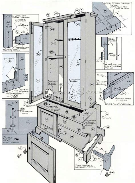cabinet design plans free gun cabinet plans woodarchivist