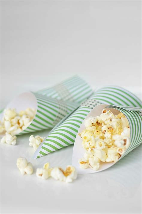 How To Make Paper Cones For Food - 10 best ideas about popcorn cones on