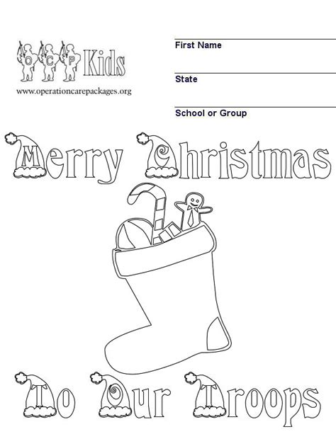 template for cards for servicemen and send santa to the troops