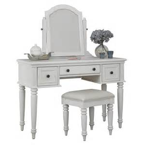 White Makeup Vanity Chair Shop Home Styles Bermuda Brushed White Makeup Vanity With