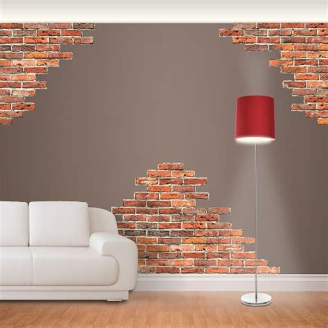 brick wall stickers funk n artsy with brick wall decals funk this house