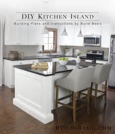 Kitchen Plans With Islands build a diy kitchen island build basic