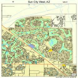 map of sun city arizona sun city west arizona map 0470355