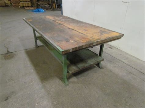 vintage work bench vintage industrial work bench table this vintage