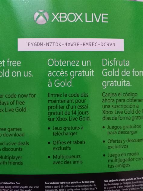 14 days of free xbox live gold code xboxone