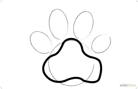 how to draw a puppy paw draw paw prints step 3 jpg dogs litle pups
