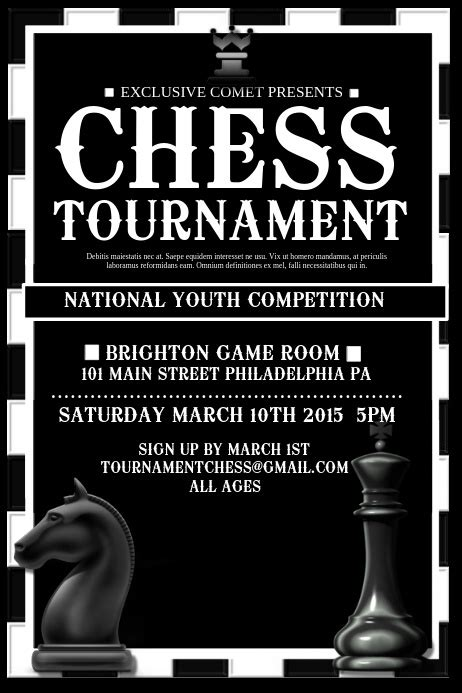 Copy of Chess Tournament   PosterMyWall