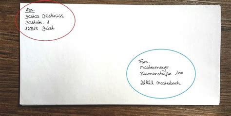 briefe und pakete richtig beschriften f 252 r deutschland