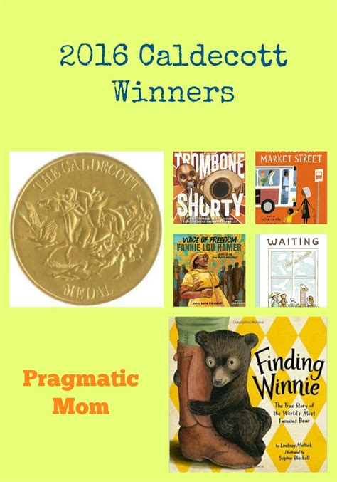 caldecott picture books 2016 caldecott winnerspragmaticmom pragmaticmom