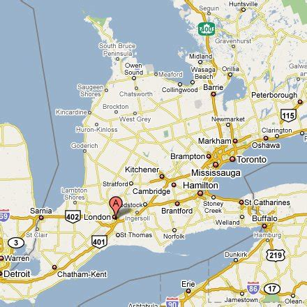 maps driving directions ontario canada image gallery ontario map
