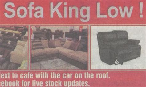 Sofa Shop Told Ditch Rude Catchphrase Media The Guardian Sofa King Advert
