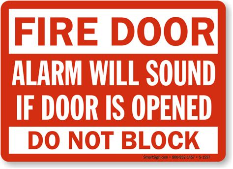 Alarm Emergency door alarm opened signs and emergency signs