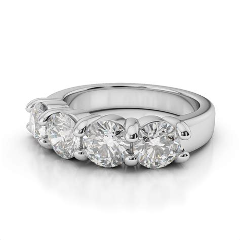 4 engagement ring in 14k white gold