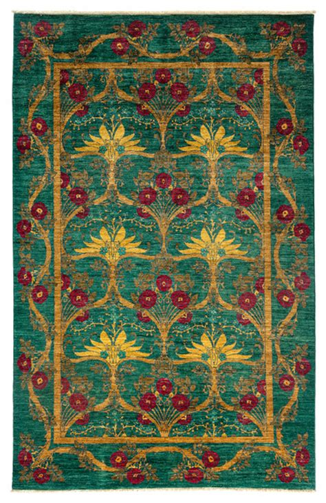 Modern Area Rugs 6x9 Arts And Crafts Wool Area Rug Teal 6x9 Modern Area Rugs By Rugs